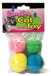 Scruffys  Assorted   Sponge Balls  Foam  Pet Toy  Large  4 pk