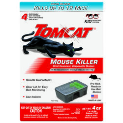 Tomcat  Bait Station  Blocks  For Mice 4 pk