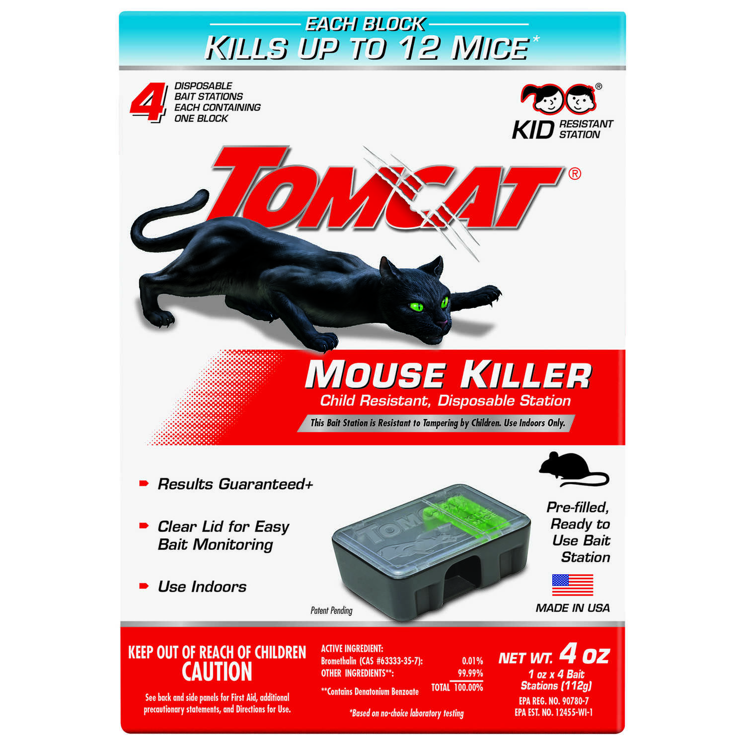 Tomcat  Small  Disposable  Bait Station  For Mice 4 pk