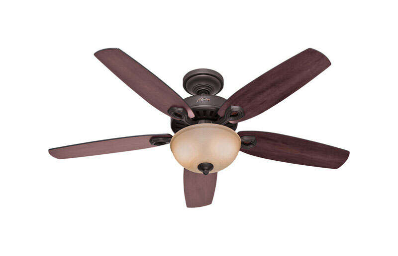 Hunter Fan  Builder Deluxe  52 in. New Bronze  Indoor  Ceiling Fan