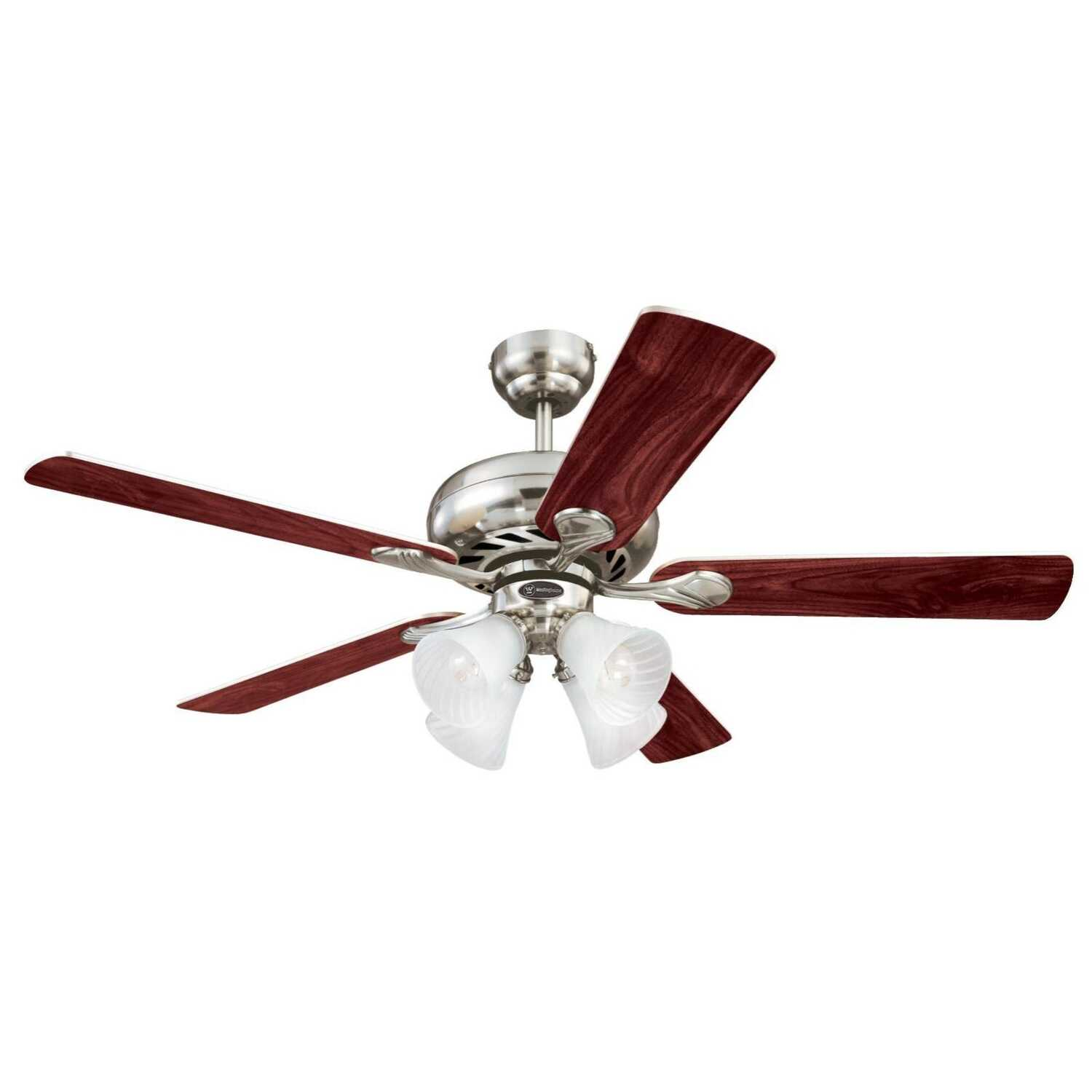 Westinghouse  Swirl  52 in. 5 blade Indoor  Brushed Nickel  Ceiling Fan
