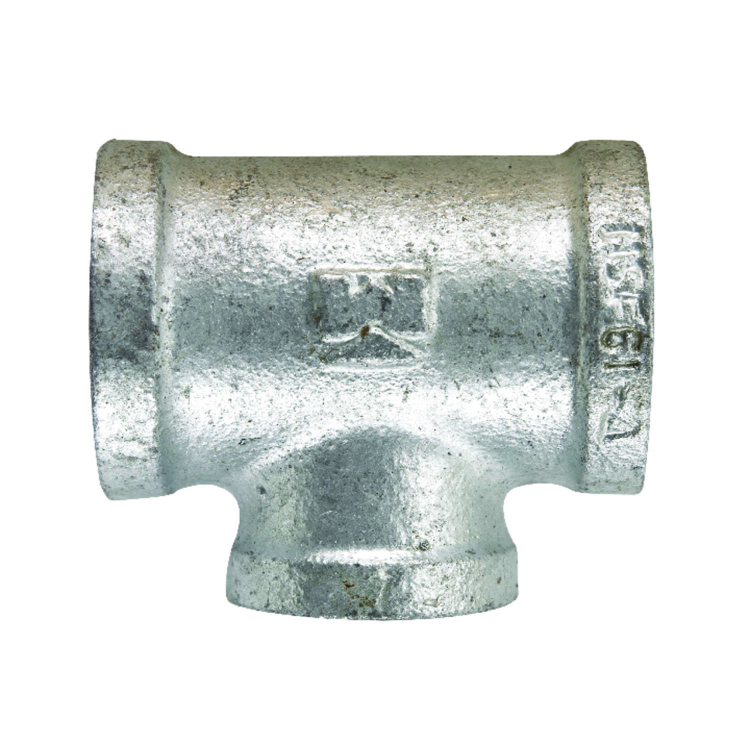 B & K  1/2 in. FPT   x 1/2 in. Dia. FPT  Galvanized  Malleable Iron  Reducing Tee