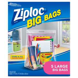 Ziploc  Big Bags  3 gal. Storage Bag  Clear