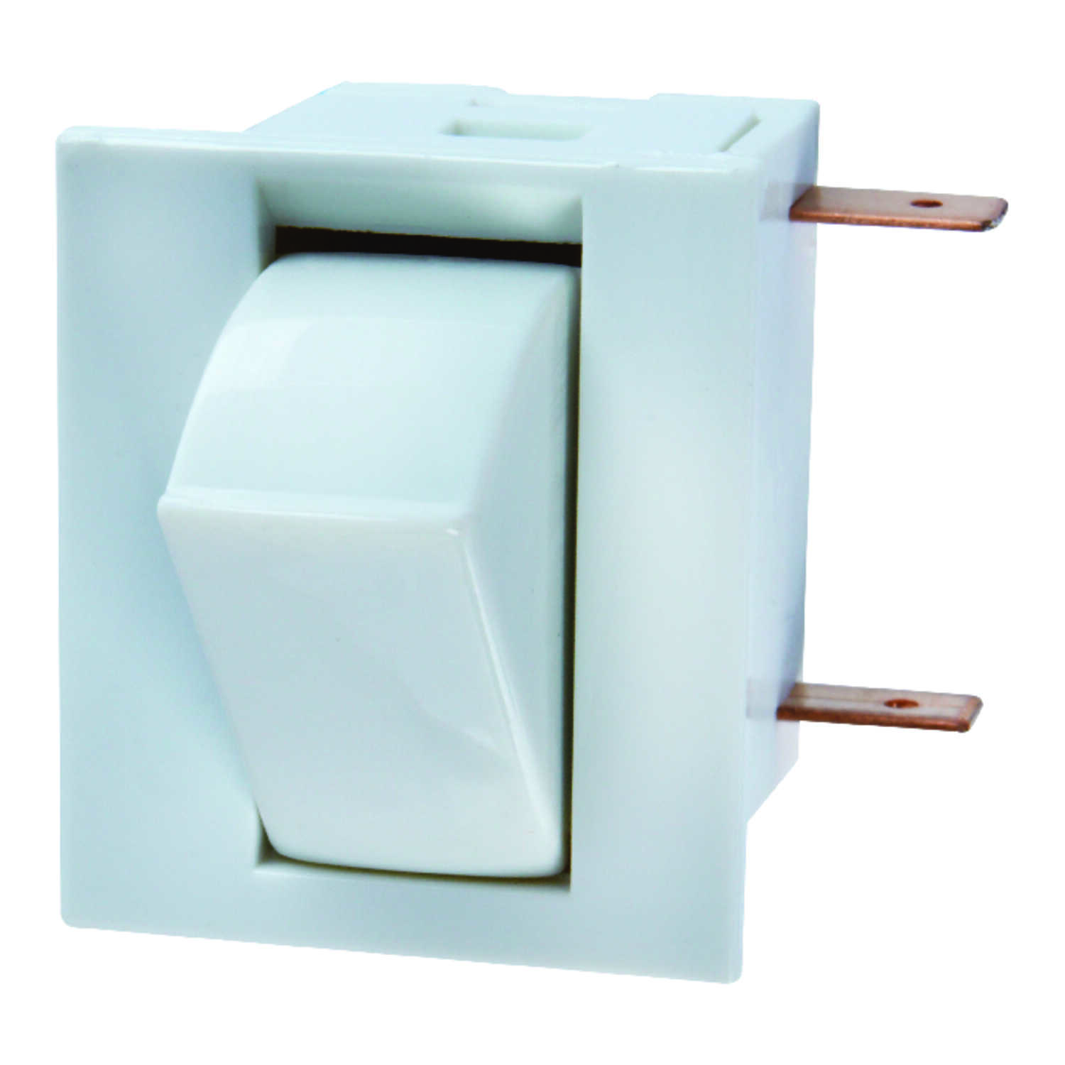 Jandorf  5 amps Single Pole  Momentary  Appliance Switch  White  1