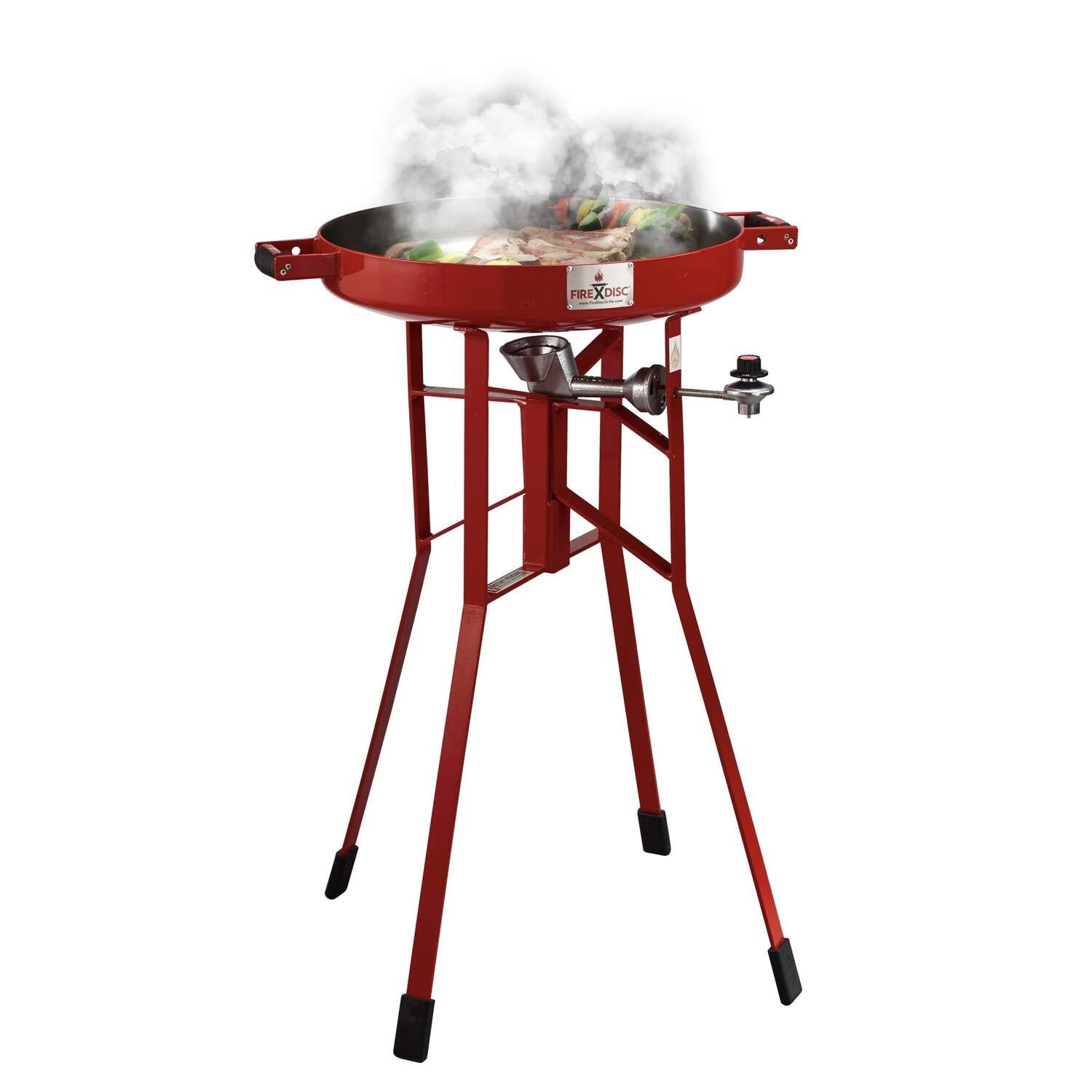 FireDisc  Liquid Propane  Grill  Red  1 burners