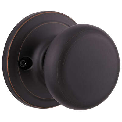 Kwikset Juno Venetian Bronze Steel Dummy Knob 2 Grade Right or Left Handed