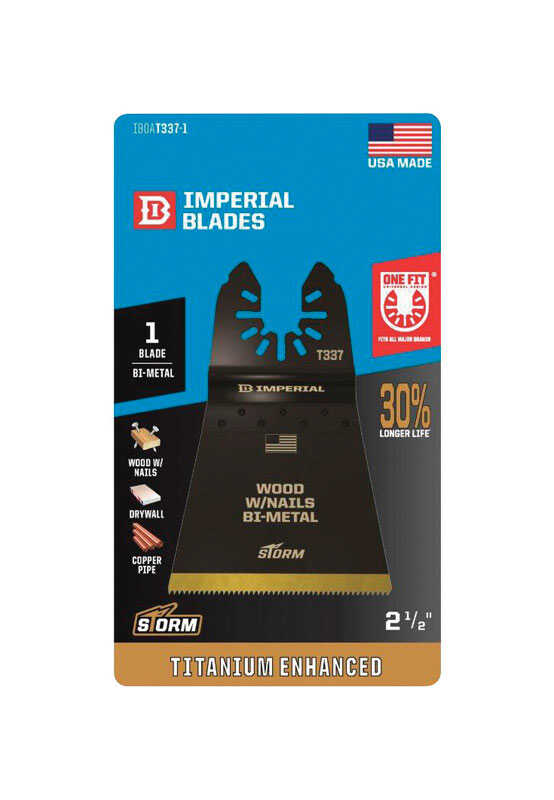 Imperial Blades  OneFit  2-1/2 in. Dia. Titanium-Coated Bi-Metal  Oscillating Saw Blade  1 pk