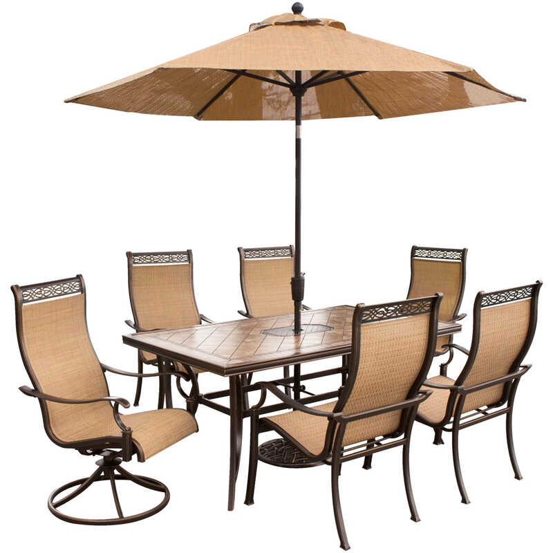 Hanover  Monaco  7 pc. Bronze  Aluminum  Patio Set