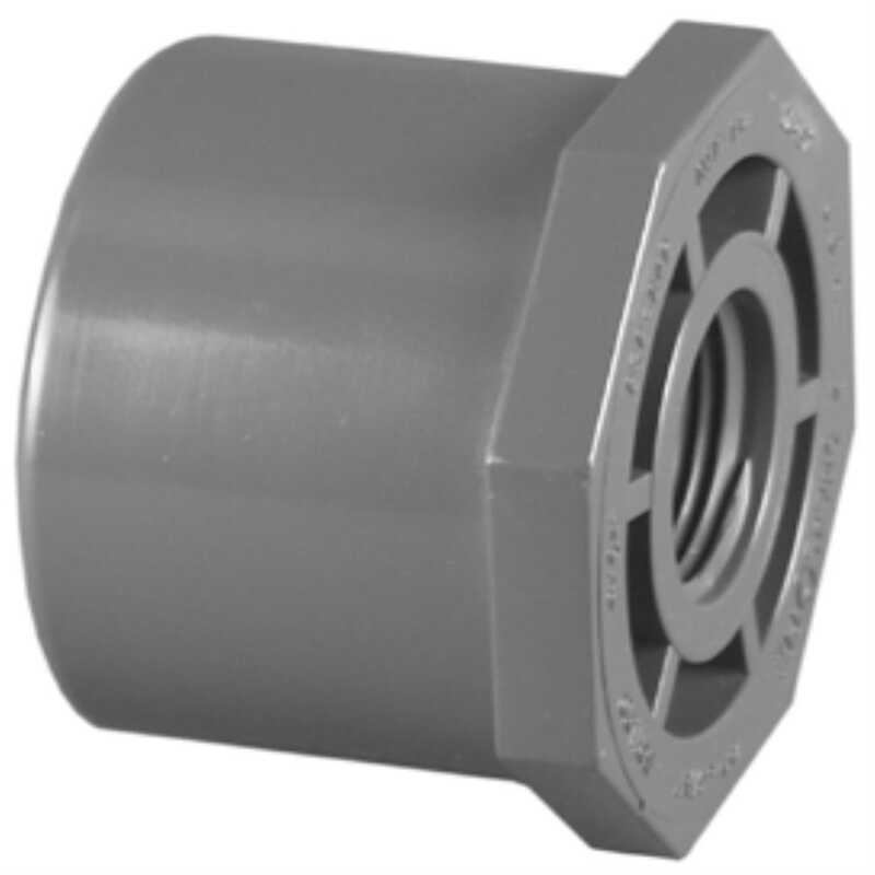 Charlotte Pipe  Schedule 80  3/4 in. Spigot   x 1/2 in. Dia. FPT  PVC  Reducing Bushing