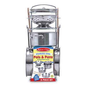 Melissa & Doug  Let's Play House  Toy  Stainless Steel