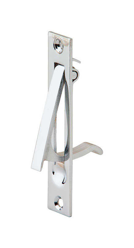Ives  3-7/8 in. L Bright Chrome  Brass  Sliding Door Edge Pull