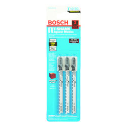 Bosch 4 in. Metal T-Shank Ground teeth and taper ground back Jig Saw Blade 10 TPI 3 pk