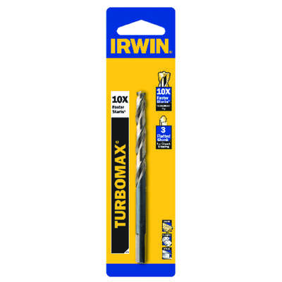 Irwin  Turbomax  13/64 in.  x 3-5/8 in. L High Speed Steel  Drill Bit  1 pc.