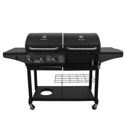 Char-Broil Deluxe 3 burner Charcoal/Liquid Propane Grill Black