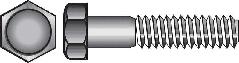 Hillman  1/4-20 in. Dia. x 1/2 in. L Stainless Steel  Hex Head Cap Screw  100 pk