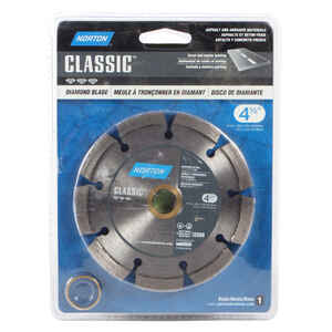 Norton  Classic  4-1/2 in.  Diamond  Segmented Rim Diamond Saw Blade  1/4 in.  5/8 and 7/8 in.  1 pk