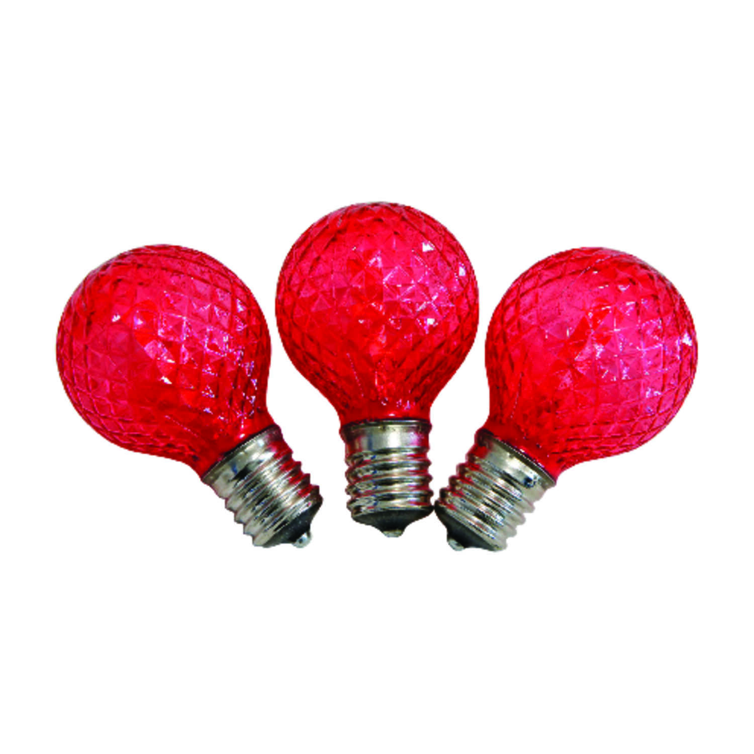 Celebrations  LED  G40  Replacement Bulb  Red  25 pk