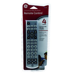 GE  Programmable Universal Big Button Remote Control