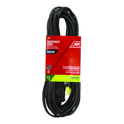 Ace  Indoor  20 ft. L Brown  Extension Cord  16/2 SPT-2