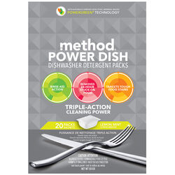 Method  Power Dish  Lemon Mint Scent Pods  Dishwasher Detergent  20 oz.