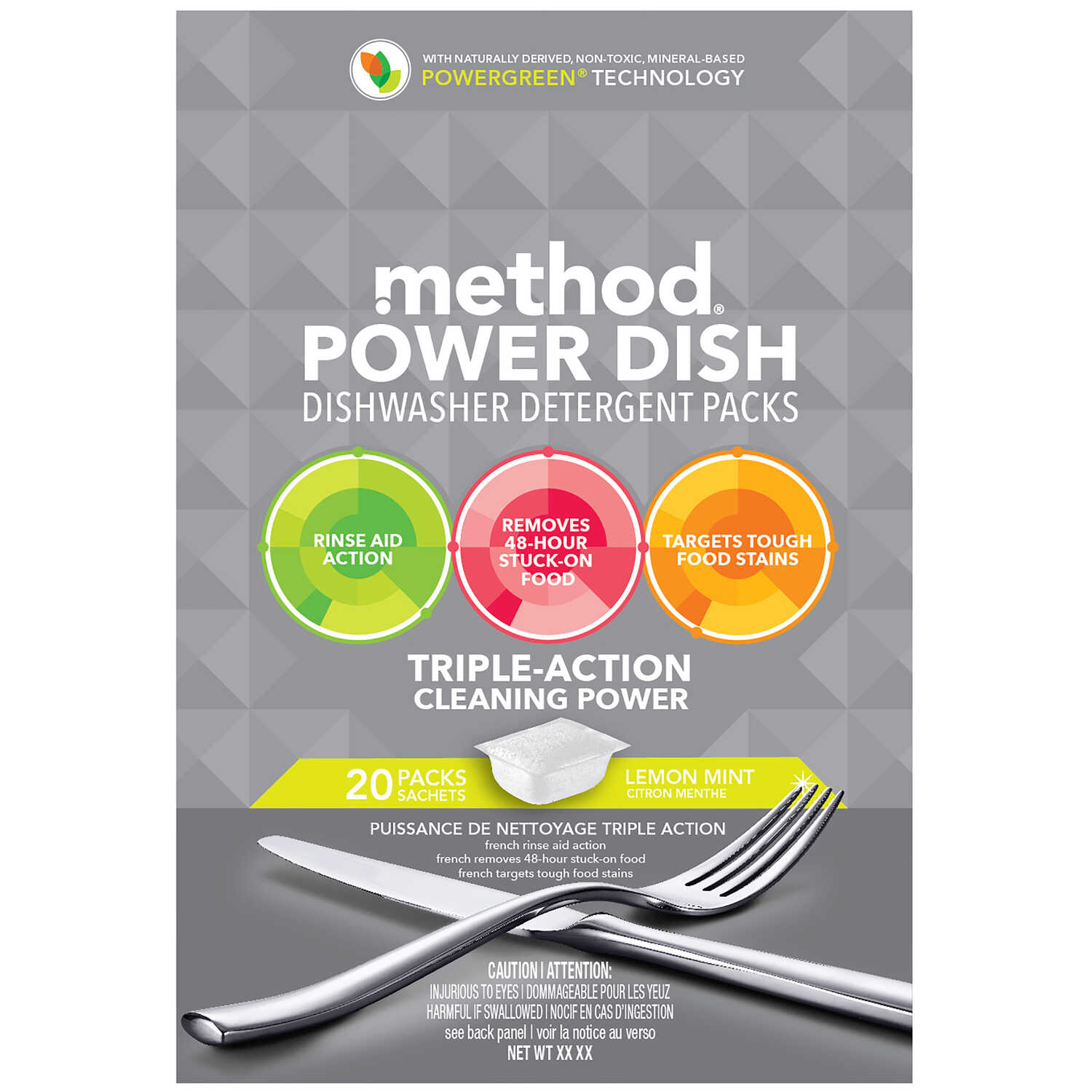 Method  Power Dish  Lemon Mint Scent Pods  Dishwasher Detergent  20 pk