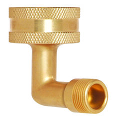 BrassCraft  3/8 in. Compression   x 3/4 in. Dia. FTH  Brass  Garden Hose with Washer