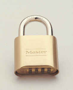 Master Lock  1-11/16 in. H x 2 in. L x 7/8 in. W Steel  Double Locking  Combination Padlock  1 each