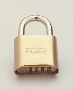 Master Lock  7/8 in. W x 1-11/16 in. H Double Locking  Steel  Combination Padlock  1 each