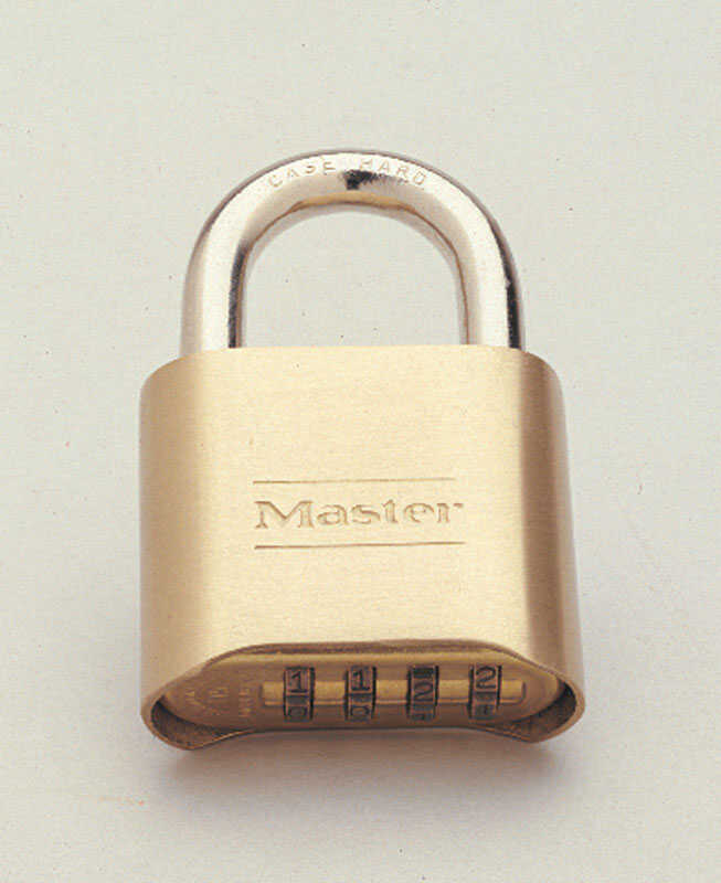 Master Lock  1-11/16 in. H x 7/8 in. W x 2 in. L Steel  Double Locking  Padlock  1 pk