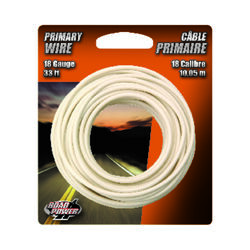 Coleman Cable  33 ft. 18 Ga. Primary Wire  White