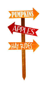 Adams & Co  Pumpkins/Apples/Hay Rides Sign  Fall Decoration