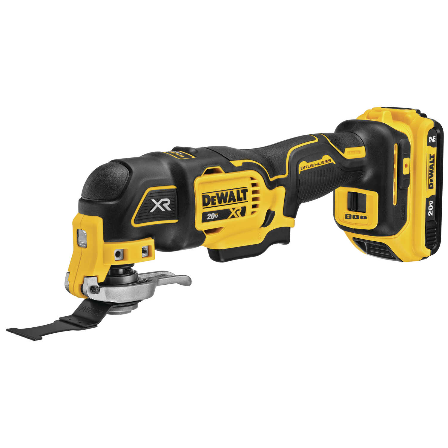 DeWalt  XR  3 amps 20 volt Cordless  Oscillating Multi-Tool  Kit 20000 opm Yellow  1 pc.