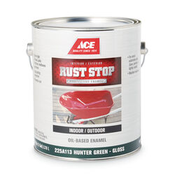 Ace  Rust Stop  Indoor and Outdoor  Gloss  Hunter Green  Rust Prevention Paint  1 gal.
