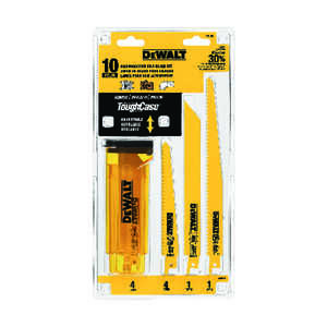 DeWalt  10 Piece  6 in. L Bi-Metal  Reciprocating Saw Blade Set  Multi TPI 10 pk