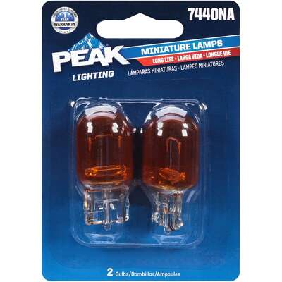Peak Halogen Parking/Stop/Tail/Turn Miniature Automotive Bulb 7440NA