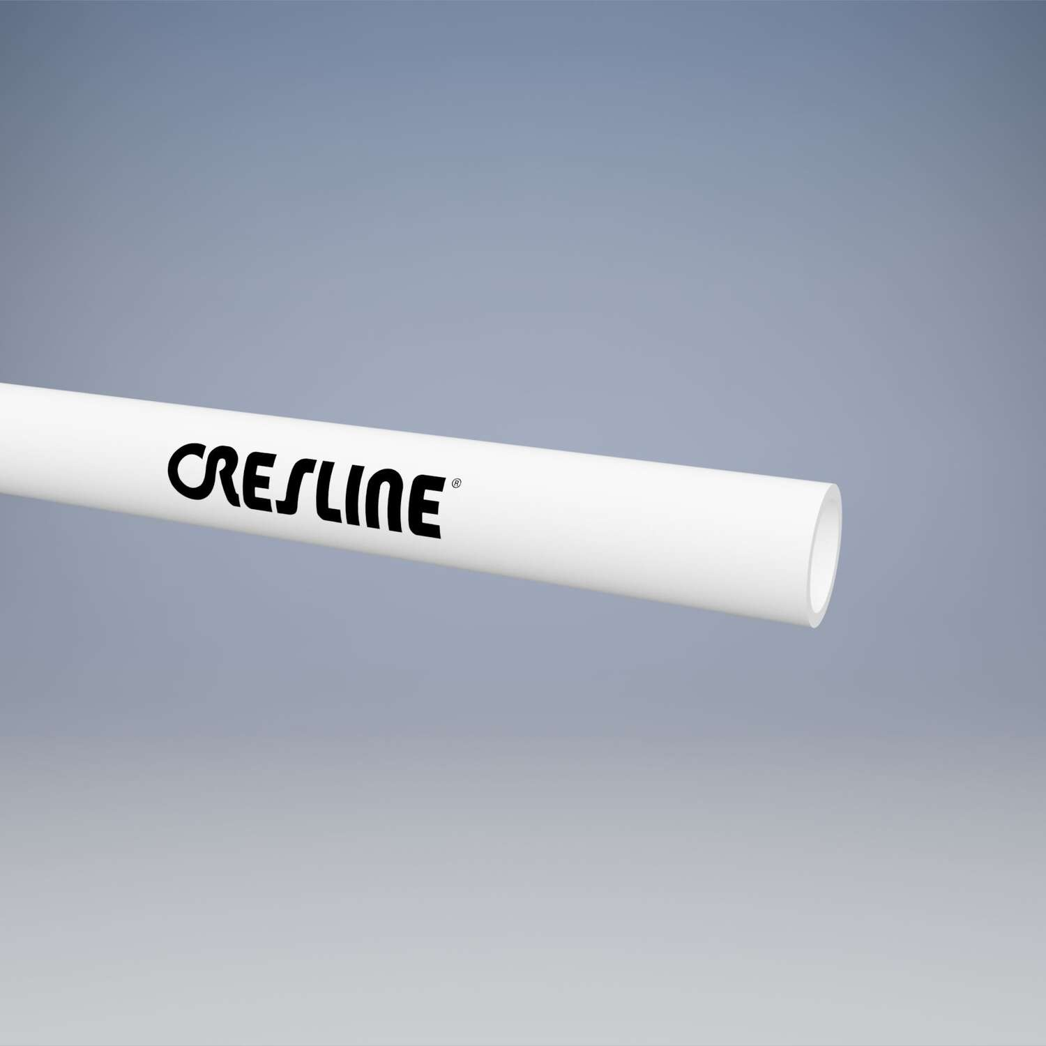 Cresline  Schedule 40  4 in. Dia. x 10 ft. L PVC DWV Pipe  Plain End