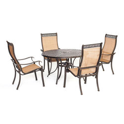 Hanover  5 pc. Brown  Aluminum  Dining Patio Set