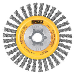DeWalt  HP  4 in. Crimped/Knotted  Wire Wheel Brush  Carbon Steel  20000 rpm 1 pc.
