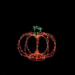 Santa's Best  Pumpkin  Lighted Halloween Decoration  21.5 in. H x 24 in. W 1 pk