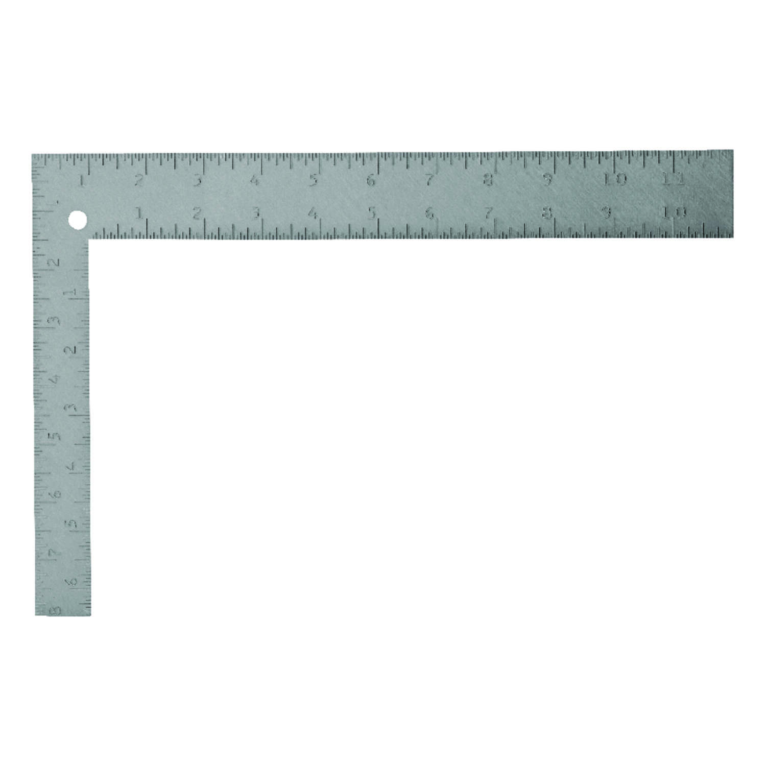 Stanley  12 in. L x 8 in. H Steel  Carpenter Square  Gray