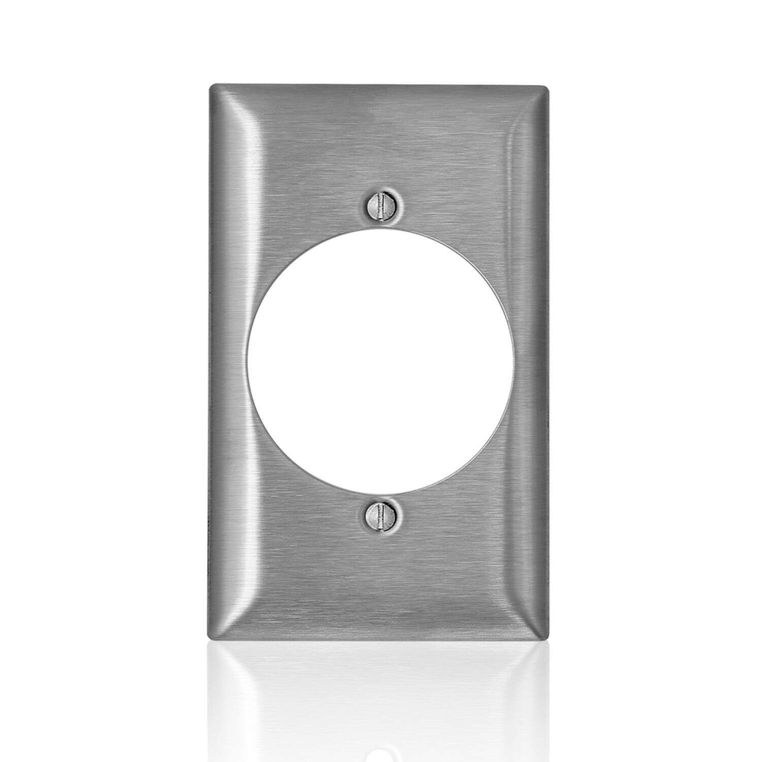 Leviton  C-Series  Stainless Steel  1 gang Metal  Receptacle  Wall Plate  1 pk