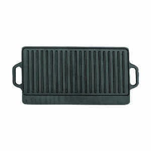 Bene Casa  9-1/2 in. W Cast Iron  Reversible Griddle