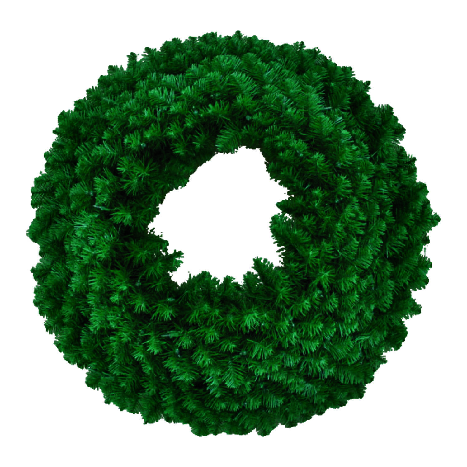 J & J Seasonal  Green  Masterpiece Wreath  36 in. Dia.