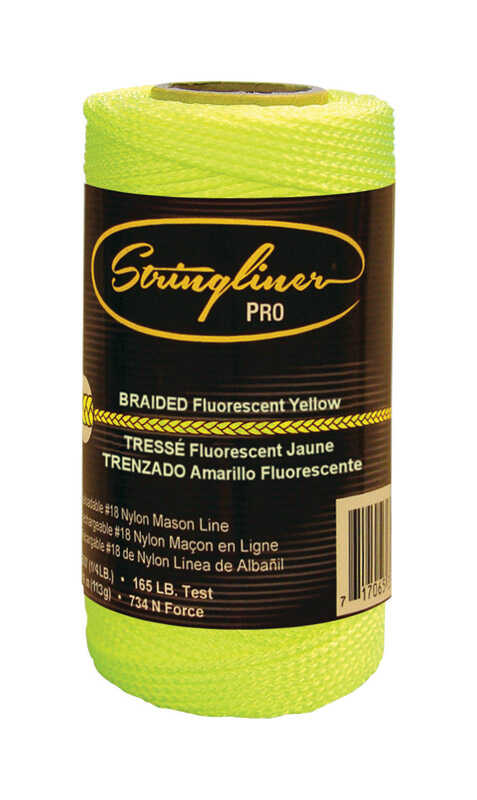 Stringliner  Fluorescent Yellow  Braided  Mason Line  250 ft.