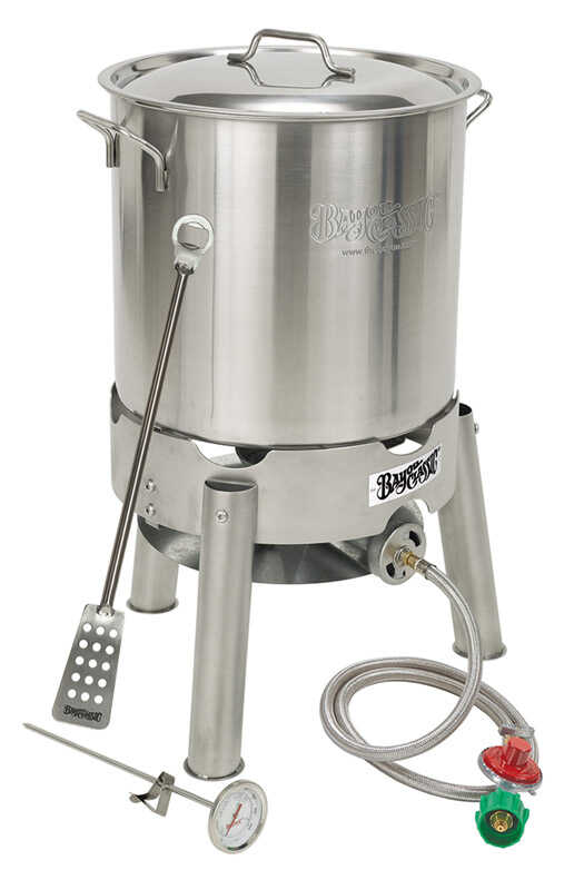 Bayou Classic  Home Brew Kettle  Stainless Steel  30 quarts qt.