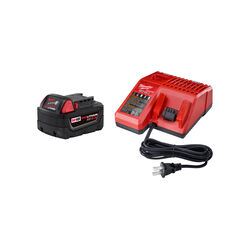 Milwaukee  M18 REDLITHIUM  XC5.0  18 volt 5 Ah Lithium-Ion  Extended Capacity Battery and Charger Ki