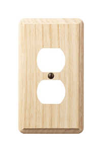 Amerelle  Contemporary  1 gang Duplex Outlet  Wall Plate  1 pk Wood