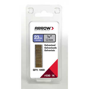 Arrow Fastener  23 Ga. Smooth Shank  Straight Strip  Pin Nails  1/2 in. L x 0.03 in. Dia. 1,000 pk