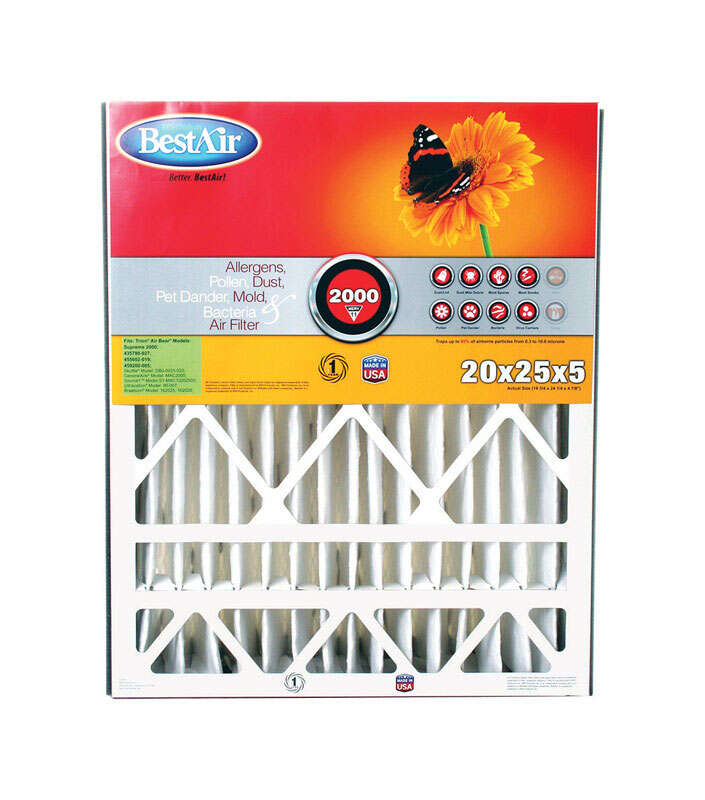 BestAir  20 in. W x 25 in. H x 5 in. D 11 MERV Pleated Air Filter