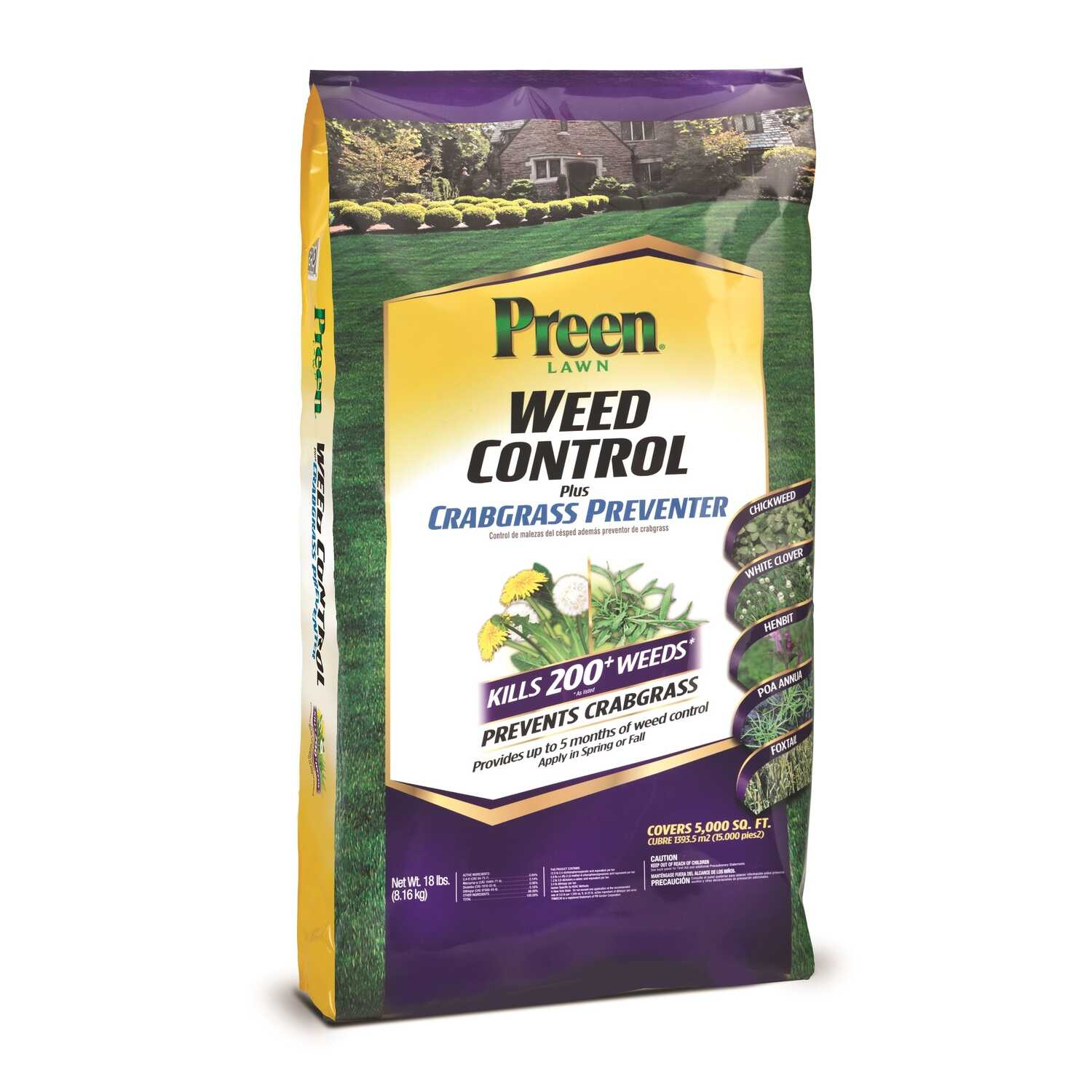 Preen  Granules  Weed Control for Lawns  18 lb.